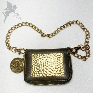 CHARM AND LUCK Leather mini chain wallet